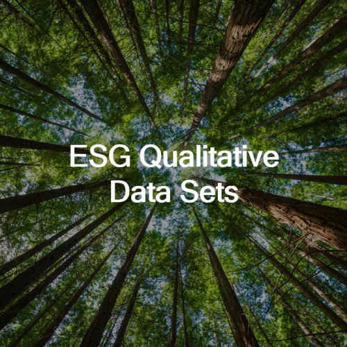 ESG Metric Data Sets IdealRatings